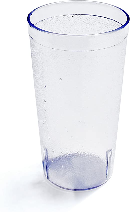 Clear Round Pebbled Plastic Restaurant Drinking Glass Tumblers 20 Oz 48 Pack