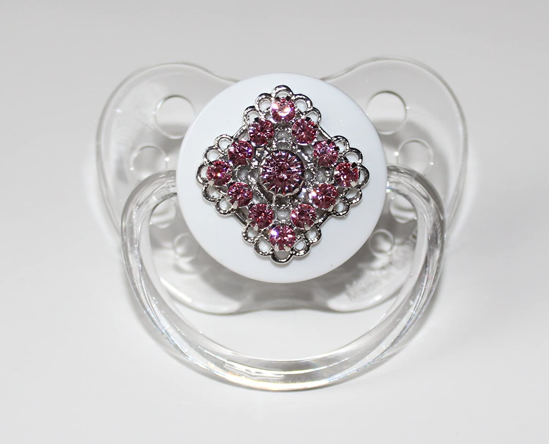Crystal Dream Blingy Rosa Cristales de Swarovski Chupete (PSHP ...