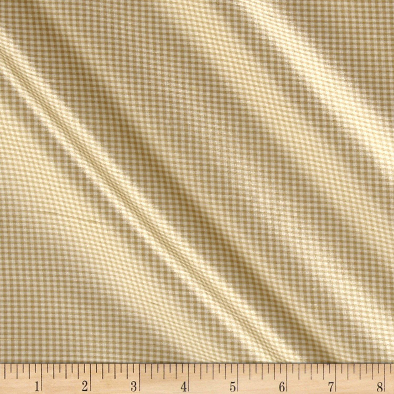 Schumacher Dalton 100% Silk Taffeta Gingham Sand by F. Schumacher & Company