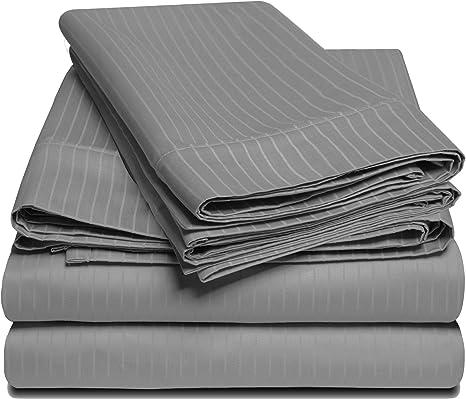 Details about  /EXT PKT 6 PCs Sheet Set 1000 TC 100/% Egyptian Cotton Dark Grey Solid