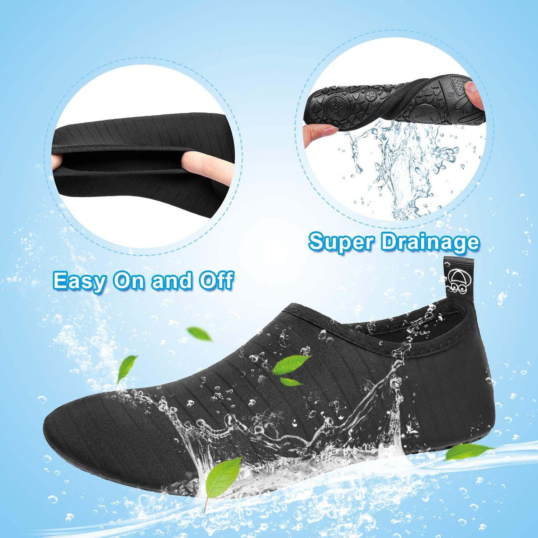 GELANBOO Women Men Water Shoes Barefoot Quick-Dry Slip-on Aqua Socks for Yoga Beach Swim Surf Exercise