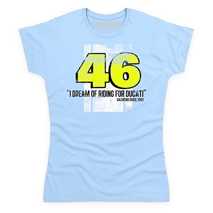 Valentino Rossi Camiseta, Para mujer, Azul celeste, M