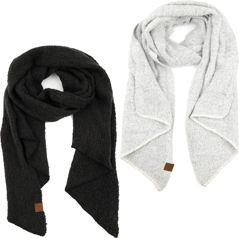 Funky Junque Womens Scarf Soft Warm Knit Winter Tie Dye Confetti Boucle Shawl Wrap