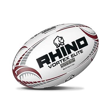 Rhino Vortex Elite Match - Pelota de Rugby, Color Blanco, tamaño ...