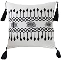 """famibay Knitted Pilllow Covers, Decorative Cotton Knitted Pillow Case Cushion Cover Double-Cable Knitting Patterns Soft Warm Throw Pillow Covers 18"""" x 18"""""""