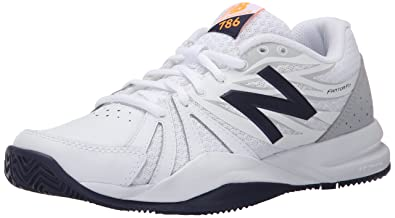 New Balance Women's 786v2 Tennis Shoe, White/Blue, ...