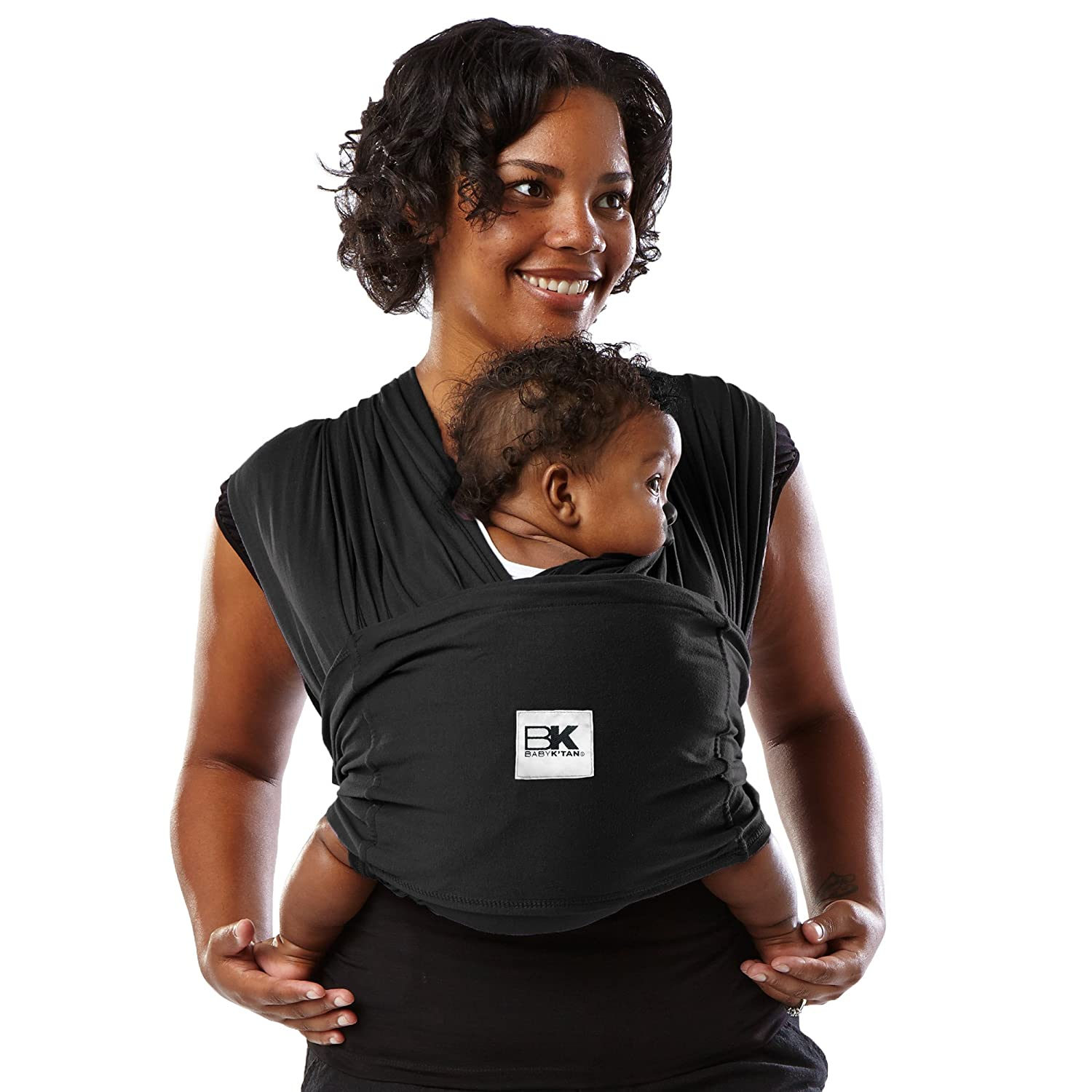 a76f5ee3ae ... Infant and Child Sling-Black L (W dress 16-20 / M jacket 43-46).  Newborn up to 35 lbs. Best for Babywearing. : Child Carrier Slings : Baby