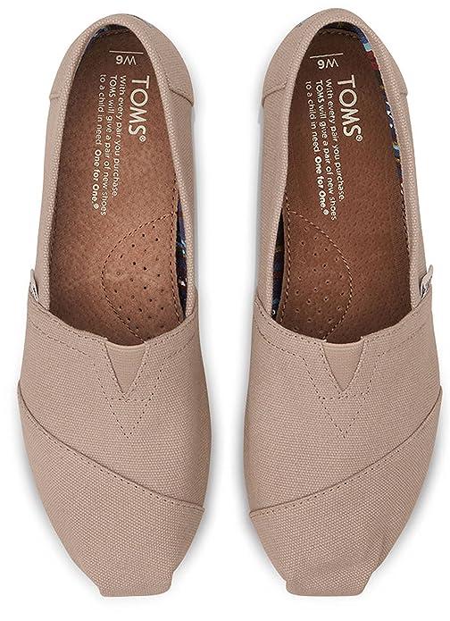 Amazon.com | TOMS Classic Light Grey White Womens Canvas Espadrille Shoes Slipons | Fashion Sneakers