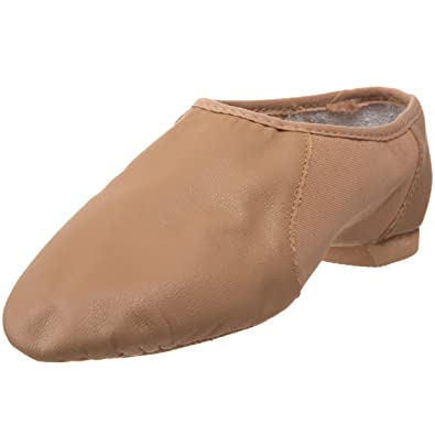 Bloch Dance Girl's Neo-Flex Slip On Jazz Shoe, Tan, 10 N US
