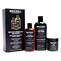Brickell Men's Daily Advanced Face Care Routine II, Activated Charcoal Facial Cleanser...
