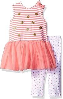 6dc1c2b011a2 Amazon.com  Little Me Baby Girls  2 Piece Sleeve Woven Short Set ...