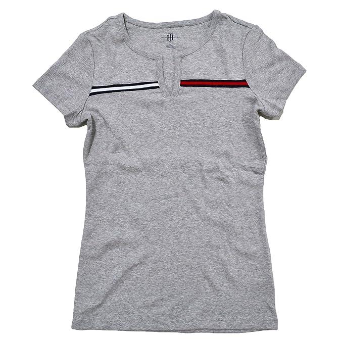 e4cd54331 Tommy Hilfiger Womens Split-Neck T-Shirt: Amazon.ca: Clothing & Accessories