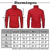 Derminpro Men's Thermal Turtleneck Soft Long Sleeve