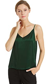 5bf68809193 Mommesilk Silk Camisole for Women Cami Tank Tops Soft 100 Pure Mulberry  Silk V-Neck