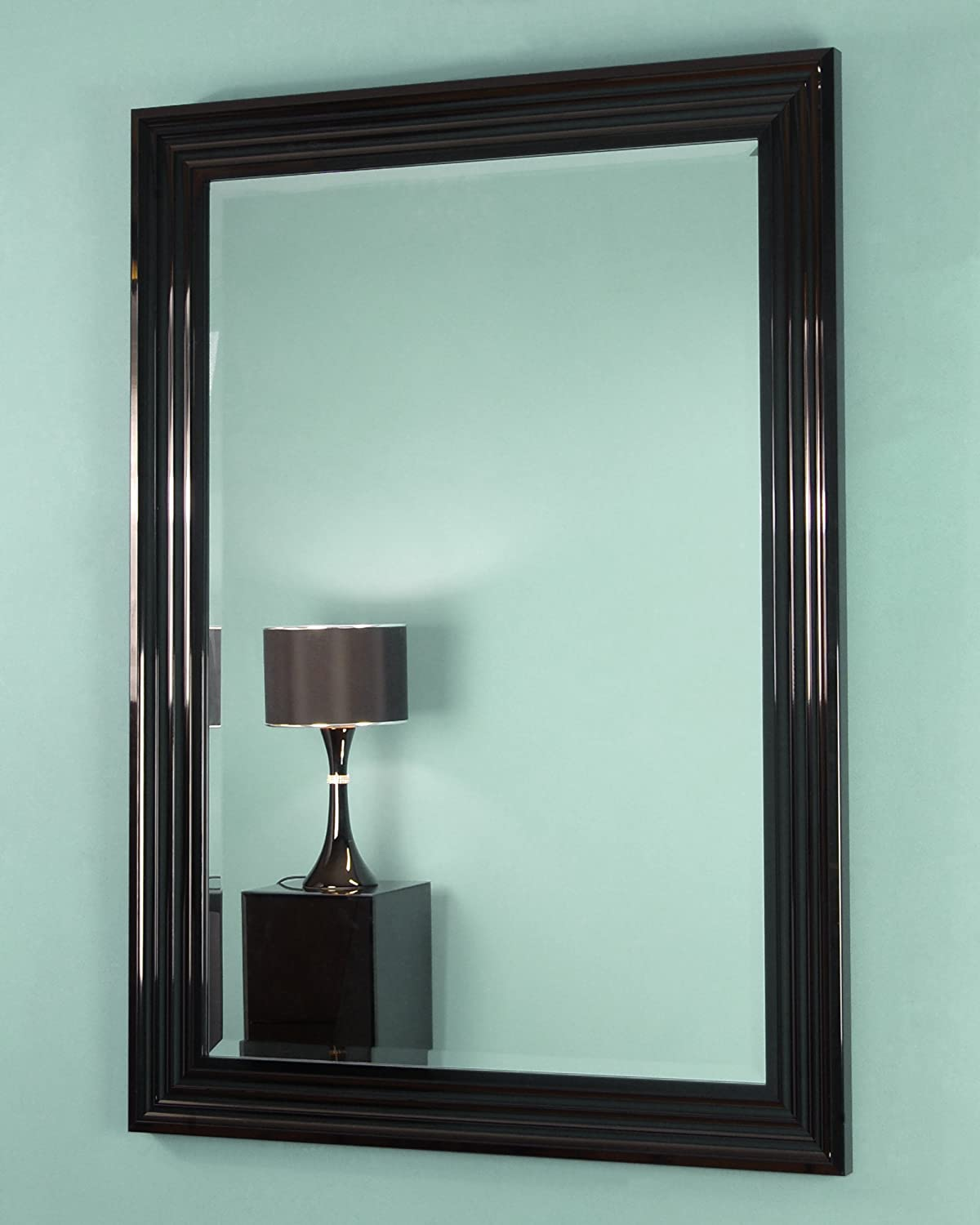 Amazon the chandelier mirror company cm derngate black high gloss laca framed bevelled mirror aloadofball Gallery
