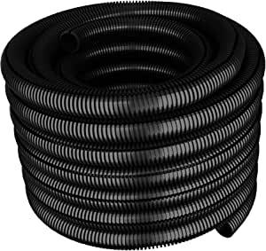 protecci/ón para martas di/ámetro 12 PE ranurado 12//9 Tubo corrugado de 50 m