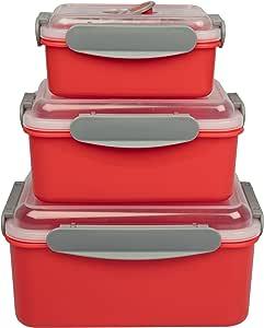 Amazon.com: Microondas containers- de almacenamiento de ...