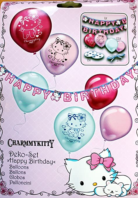 Amscan Juego de decoración charmmykitty Happy Birthday - La ...