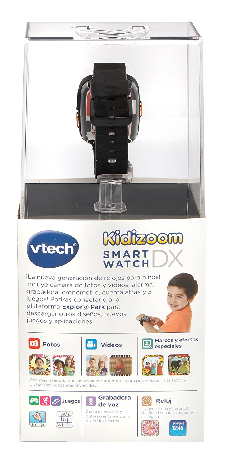 Amazon.es: VTech - Reloj multifunción Kidizoom Smart Watch DX, Color Negro (80-171667)