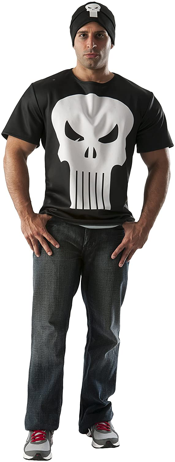 Rubie's Costume Co Men's Marvel Universe Punisher T-Shirt Rubies Costumes - Apparel 810457