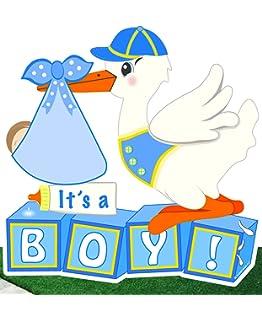 Amazon.com: It s a Boy Patio cigüeña cartel (Bienvenido ...