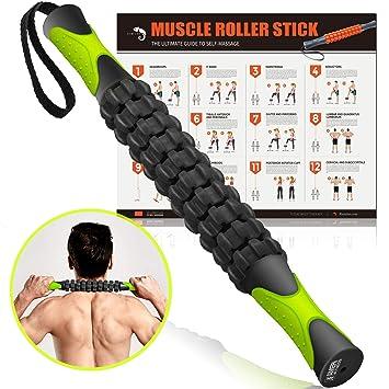 Amazon.com: Kamileo rodillo de masaje para aliviar el dolor ...