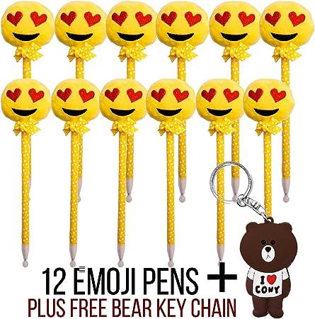 Emoji Plush Pens Pack of 12