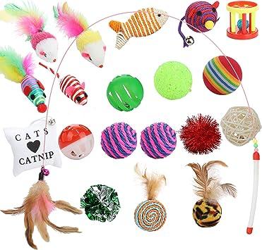 15 x Katzen Spielzeug Set Katzenspielzeug Spielzeugset Stk.0,48€