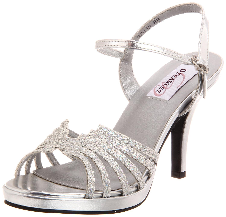 Dyeables Women's Leah Platform B005WQR5TG 5 US|Silver B US|Silver 5 Glitter acc693