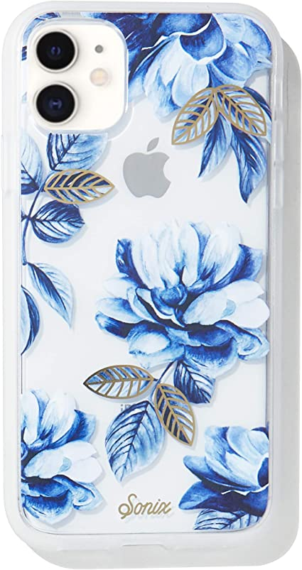 Amazon Com Sonix Indigo Flower Case For Iphone 11 10ft Drop Tested Women S Protective Blue Floral Clear Case For Apple Iphone 11