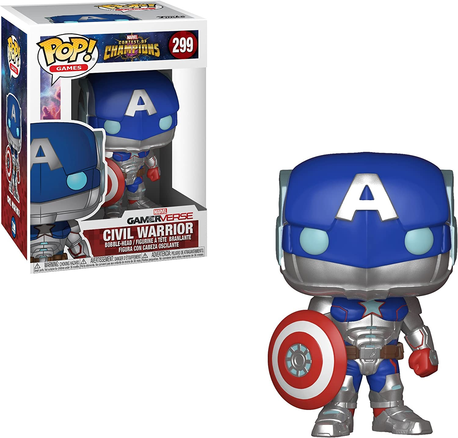 Vinyl Games Funko POP Marvel Contest of Champions Civil Warrior