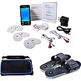 [Lifetime Warranty] TechCare Plus 24 Modes Tens Unit Massager Rechargeable Unit Electric Complete Set + Fat Burner Belt + Ref