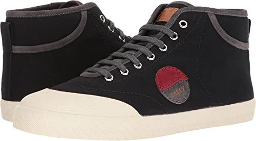 Destreza unos pocos frecuencia  Bally Mens Stefhan Retro High Top Canvas Sneaker Black Size: 13 D UK: Amazon .co.uk: Shoes & Bags