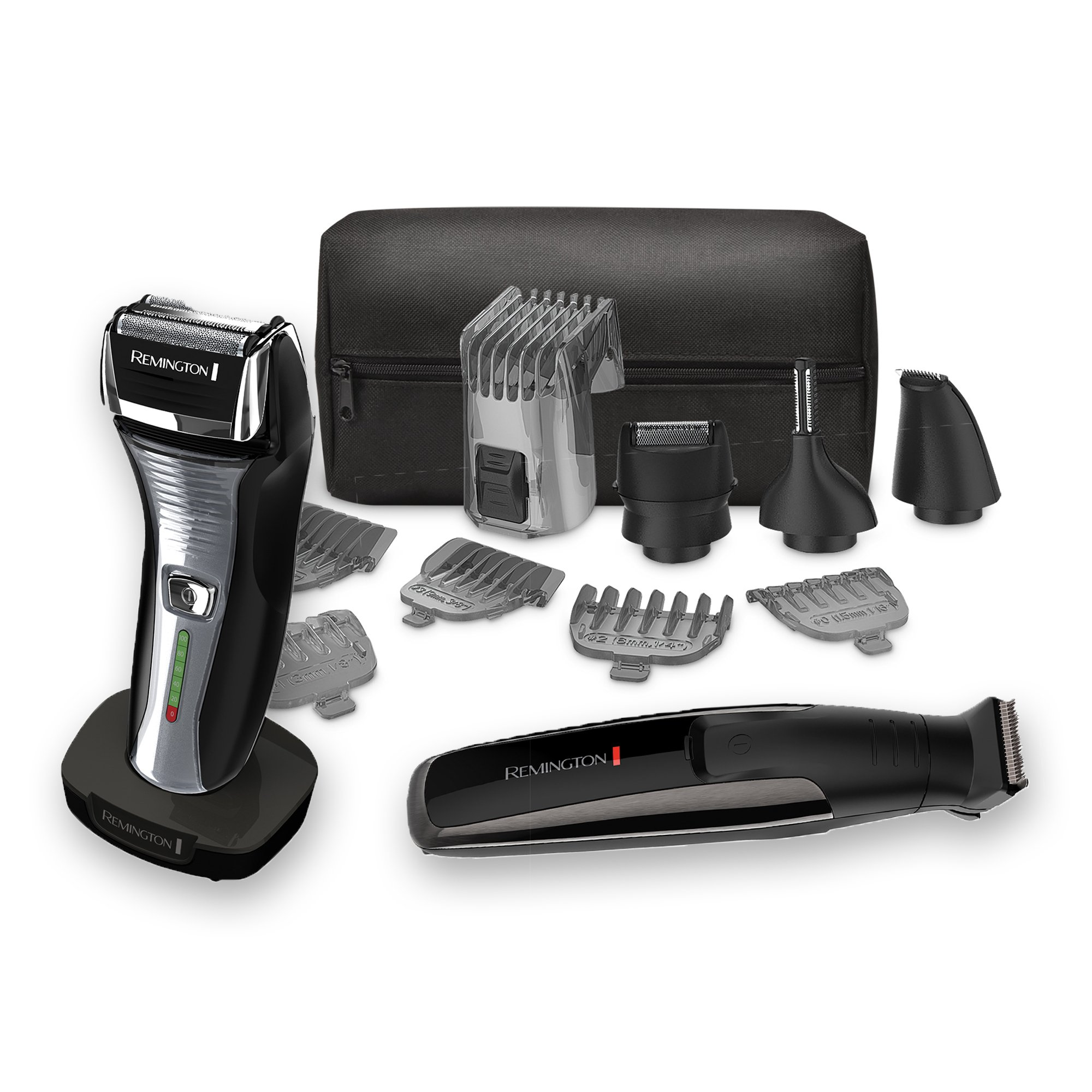 Remington Men's Grooming Bundle: The Crafter Beard Boss Style and Detail Kit along with a Men's Electric foil shaver by Remington