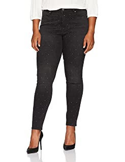 b1cbe967caa Rebel Wilson X Angels Women s Plus Size The Pin Up Mid Rise Super Skinny  Jean