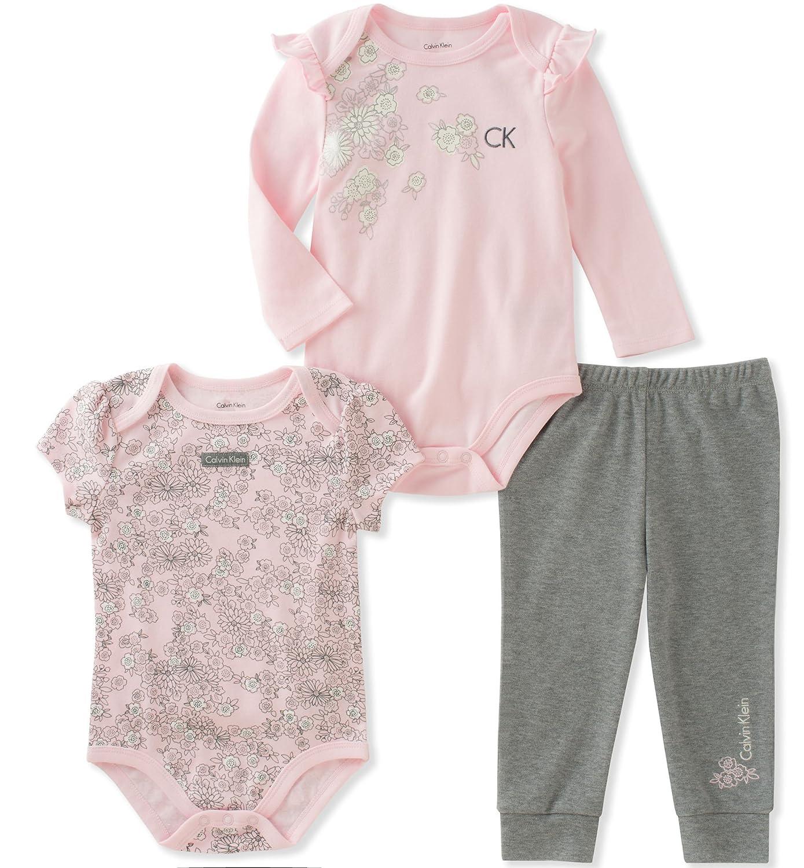 Amazon Calvin Klein Baby Girls 3 Pieces Bodysuit Pant Set