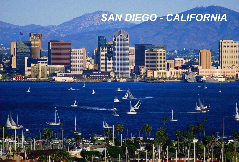 California USA United States Fridge Refrigerator Magnet (1 Piece, Style: San Diego #G8)