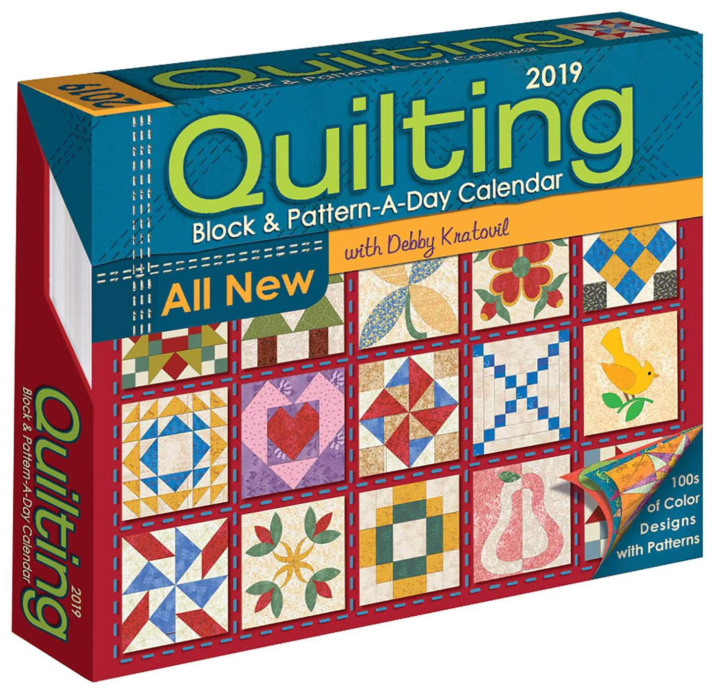 Quilting Block & Pattern-a-Day 2019 Day-to-Day Activity Cale