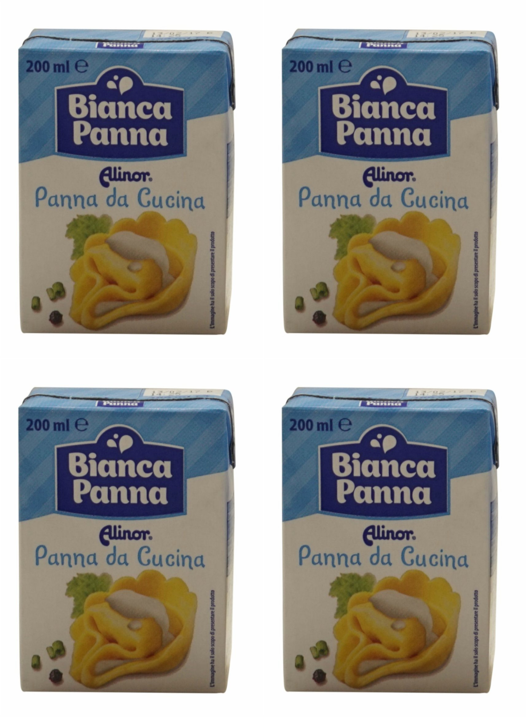 Alinor: Italian ''Panna Da Cucina'', UHT Cooking Cream * 6.7 Fluid Ounce (200ml) Packages (Pack of 4) * [ Italian Import ]
