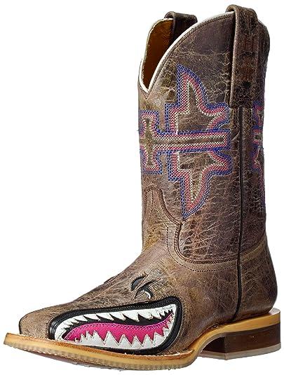 63a87b4923e Amazon.com | Tin Haul Shoes Kids' I Don't Bite Western Boot | Western