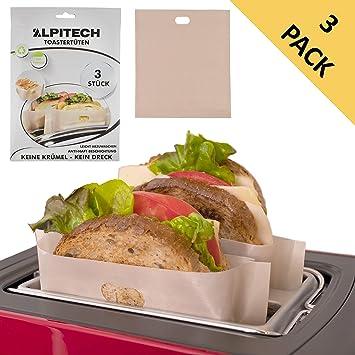 Bolsa de tostadora reutilizable (juego de 3) para sándwich ...