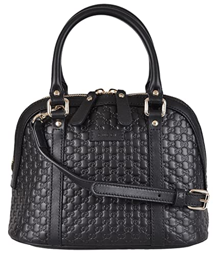 9217ae9d3df3 Amazon.com: Gucci Women's Micro GG Black Leather Convertible Mini Dome Purse:  Shoes