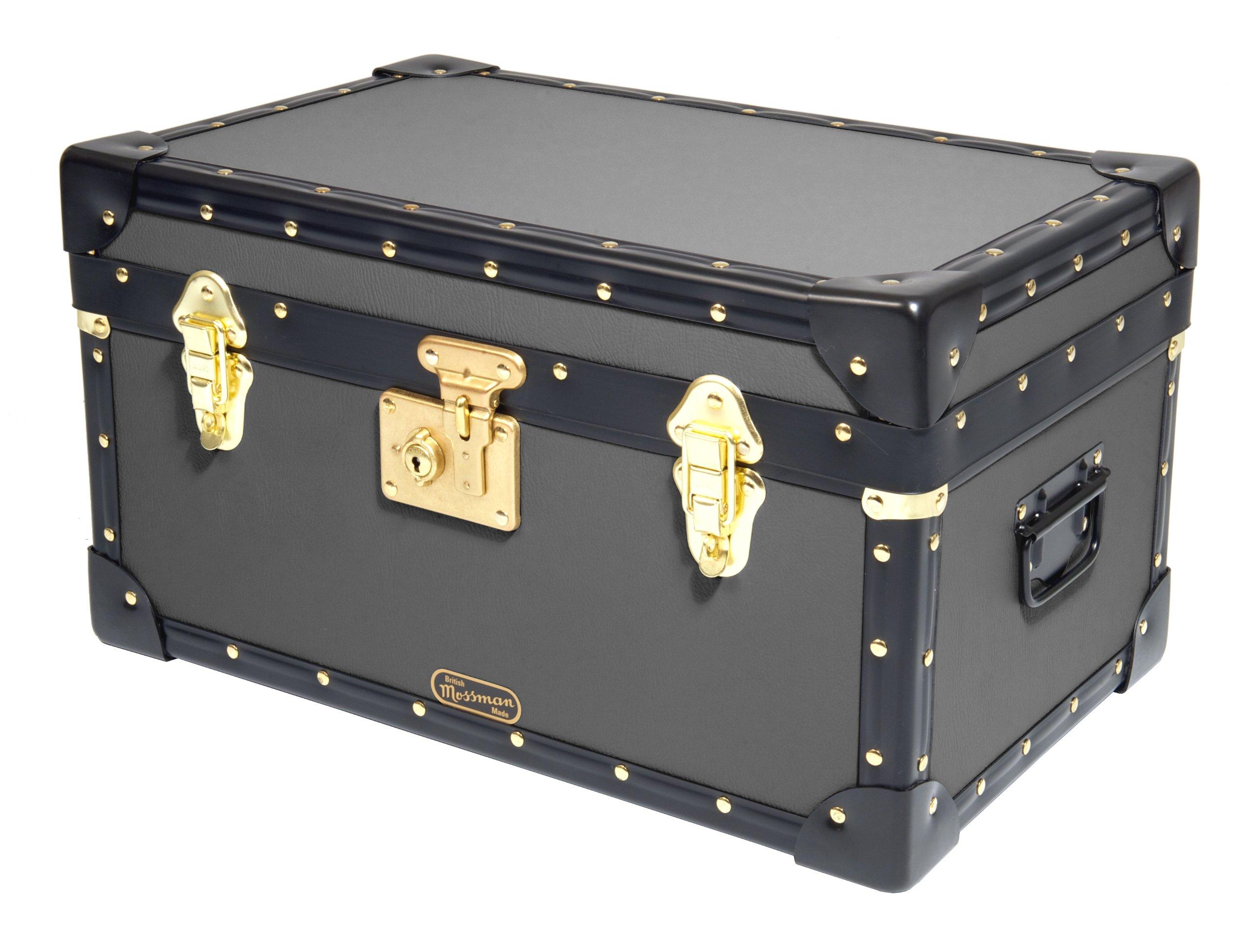 Navy Mossman Original Tuck Trunk Wood Storage Box Chest Steamer Case Home Furniture