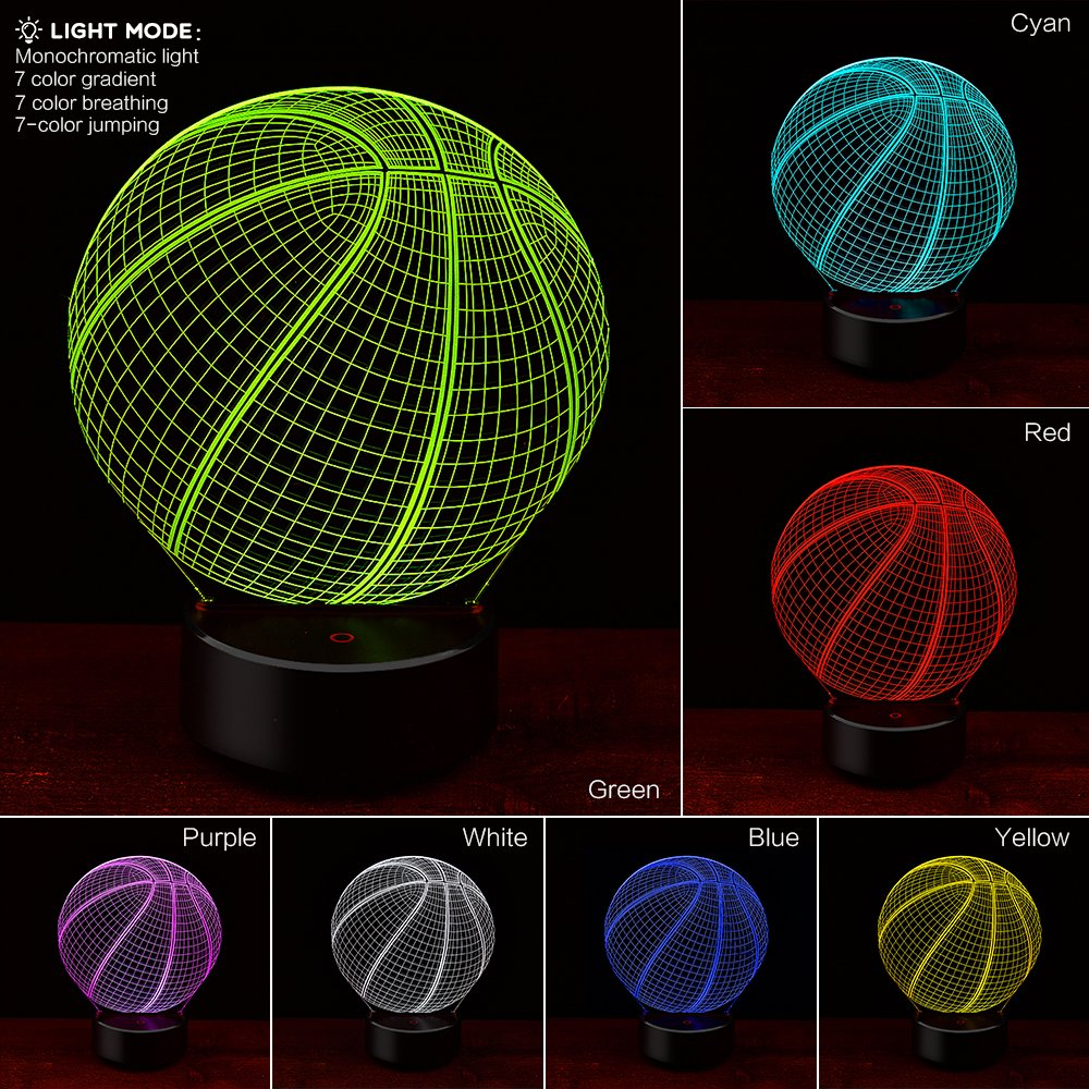 3D Soccer or Basketball nightlight