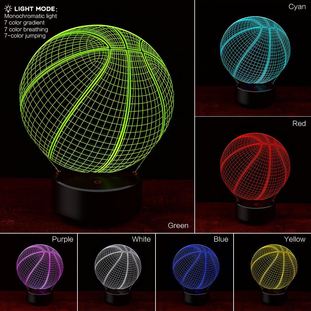 3D Soccer or Basketball nightlight