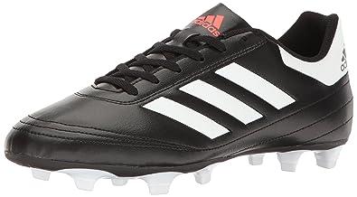 adidas Performance Men's Goletto VI FG Soccer Shoe, Black/White/Solar Red,