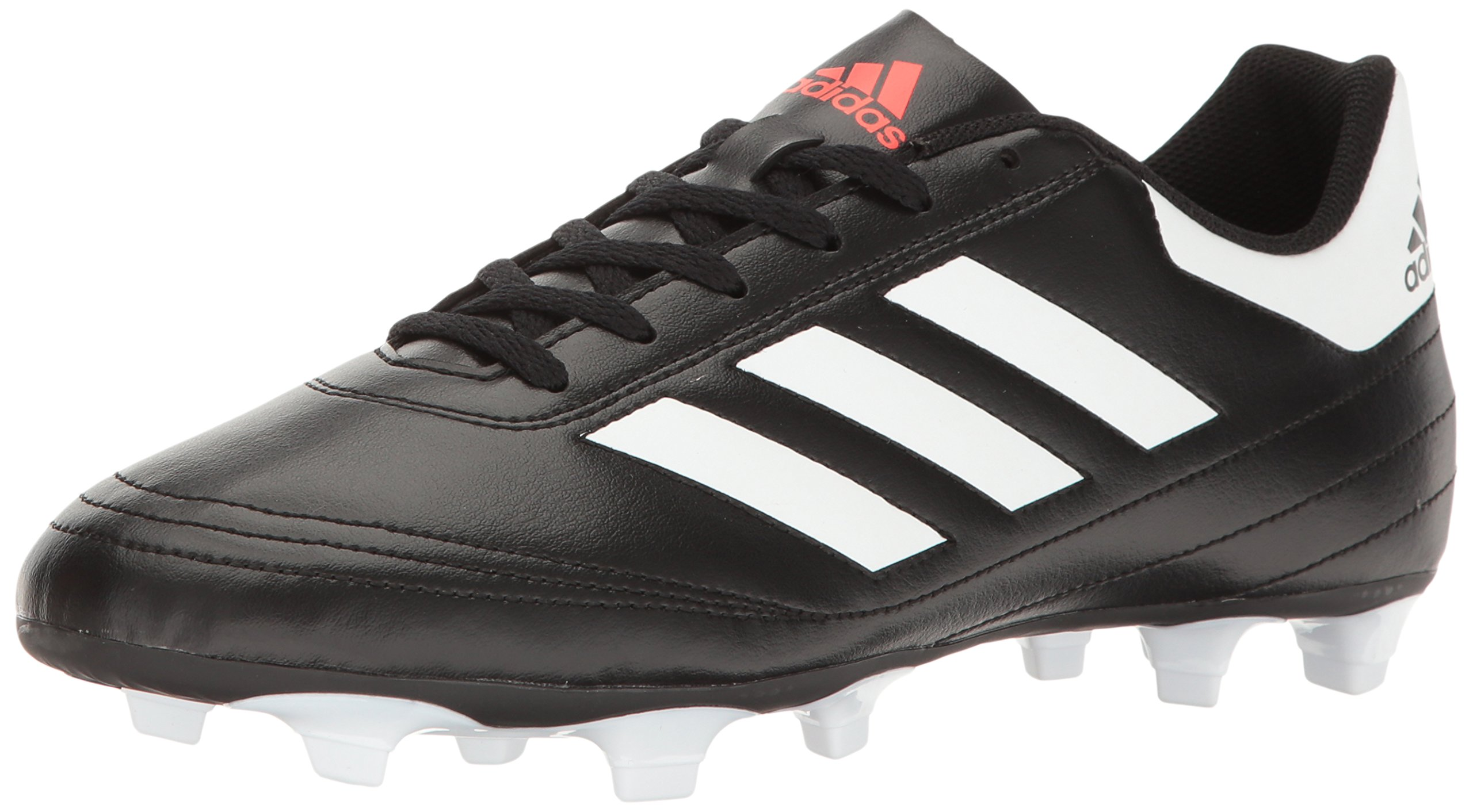 adidas Men's Goletto VI Firm Ground Soccer Shoe, Black/White/Solar red, 10 M US by adidas