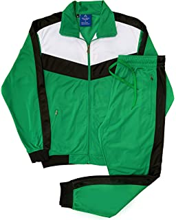 Mens Windbeaker Sauna Summer Pullover Track Jacket Track Pant Athletic Gym Activewear Top and Bottom Jogger Outfit Set