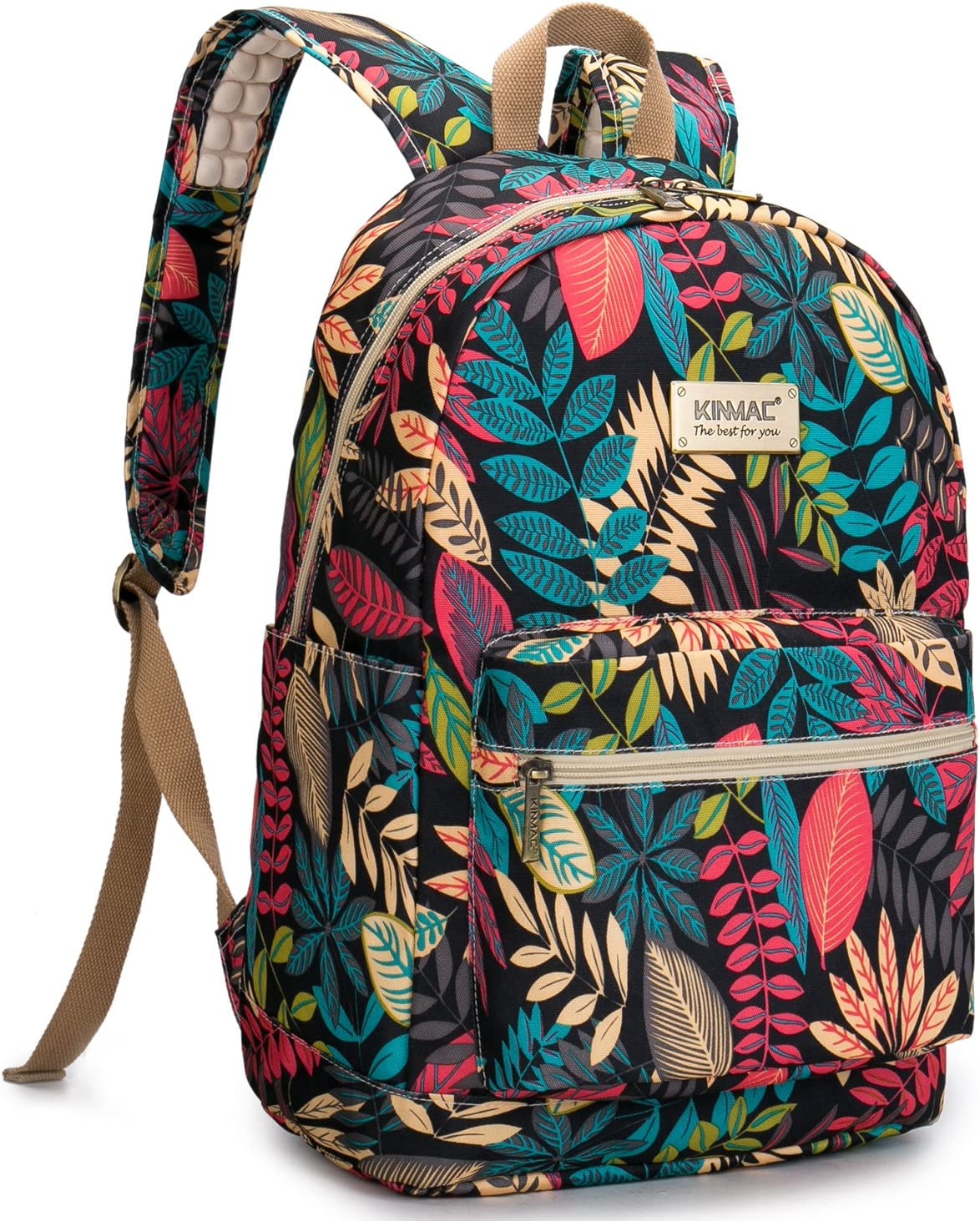 Kinmac Laptop Travel Outdoor Backpack with Massage Cushion Straps For 13 inch 14 inch and 15 inch Laptop (Black Mape)