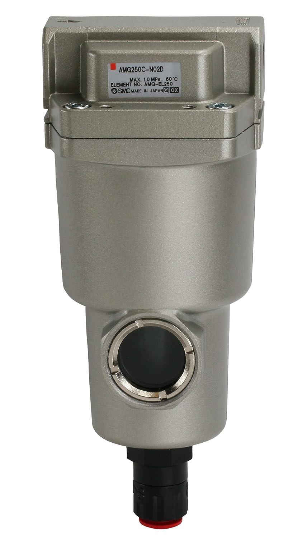 SMC AMG250C-N03D Water Separator, N.O. Auto Drain, 750 L/min, 3/8' NPT 3/8 NPT